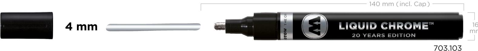 Liqiud chrome - fixka  hrot 4 mm